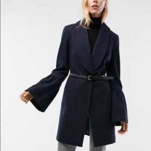 Navy blue Express bell sleeve coat